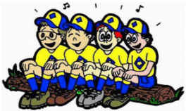 Cub Scouts singing