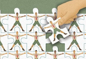 A jigsaw puzzle of Scouts