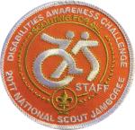 2017 Jamboree Disabilities Awareness Challenge Staff Patch