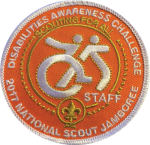 2017 Jamboree Disabilities Awareness Challenge Staff Patch