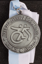 Special Needs Scouting Service Award medal