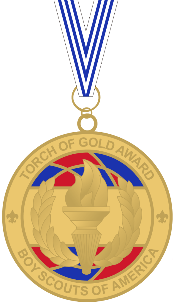 Torch of Gold Award medal