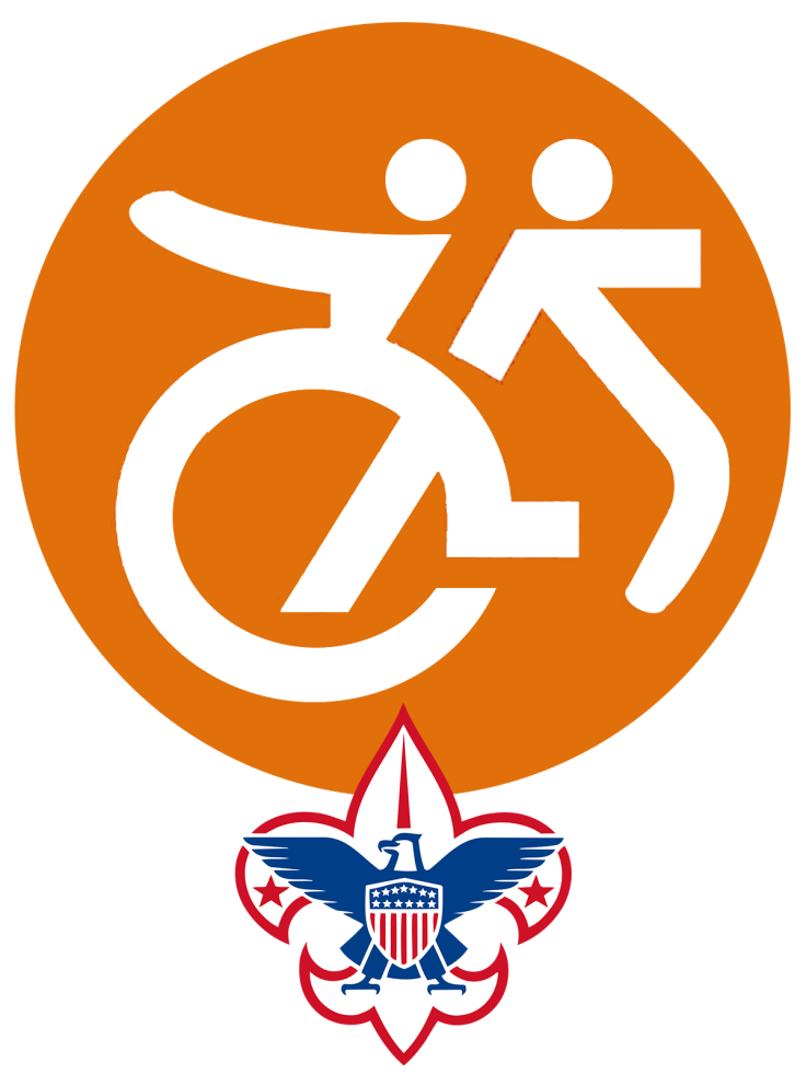 Able Scouting logo with BSA fleur