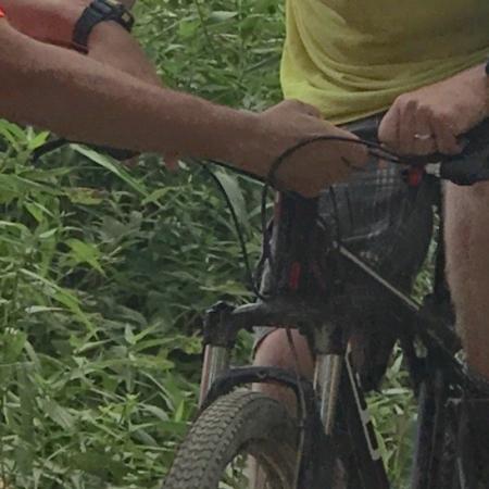 Joe and staffers biking