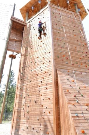 PTC adaptive COPE course climbing tower