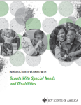 cover of BSA Intro to working with Scouts with Special Needs and Disabilities