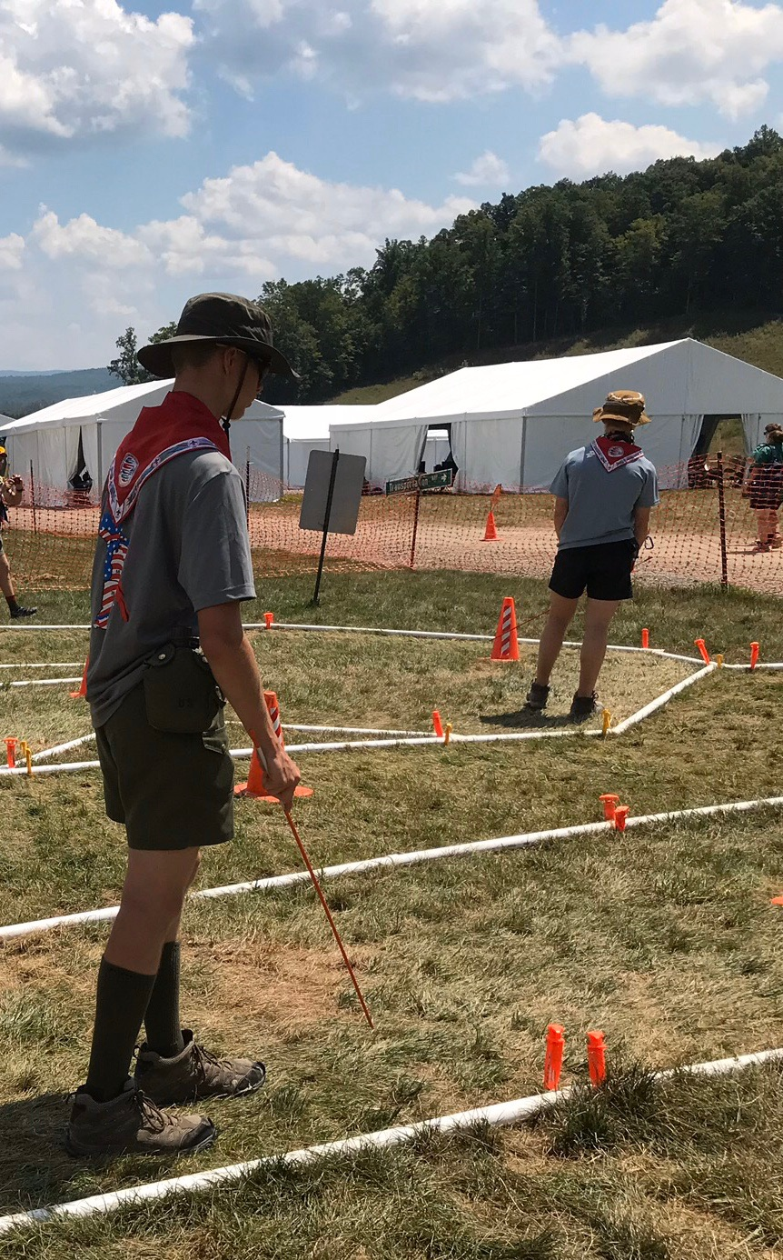 Cane maze at the 2019 World Scout Jamboree
