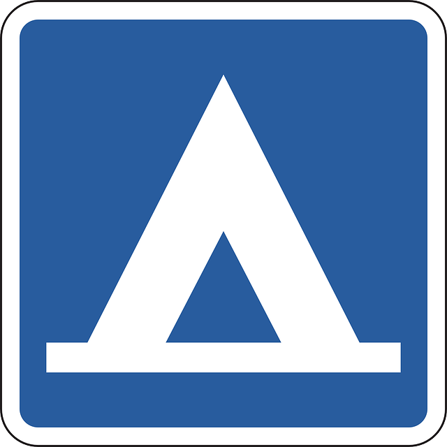 road sign for tenting camp